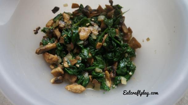 Mushroom Cheddar Spinach Quiche