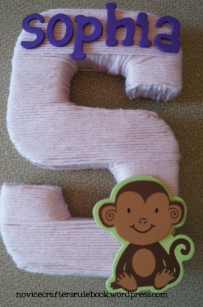 Personalized Yarn Monogram with Accent
