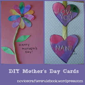 2 easy, DIY Mother's Day Cards