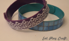 DIY Popsicle Lace Bracelet