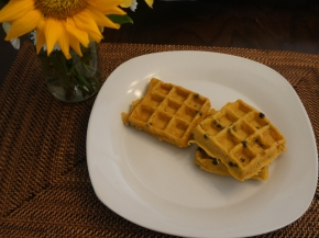 Semi-homemade Pumpkin Waffles