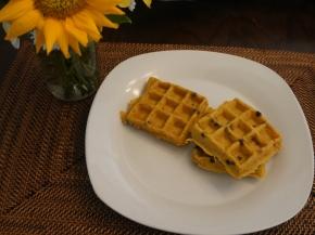 Semi-homemade Pumpkin Waffles